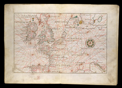 Portolan Chart of Western Europe Showing the British Isles(001ADD000025442U00005000)